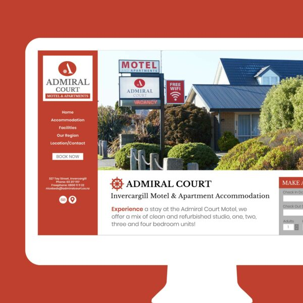 Admiral Court Motel & Apartments Web Design Auckland