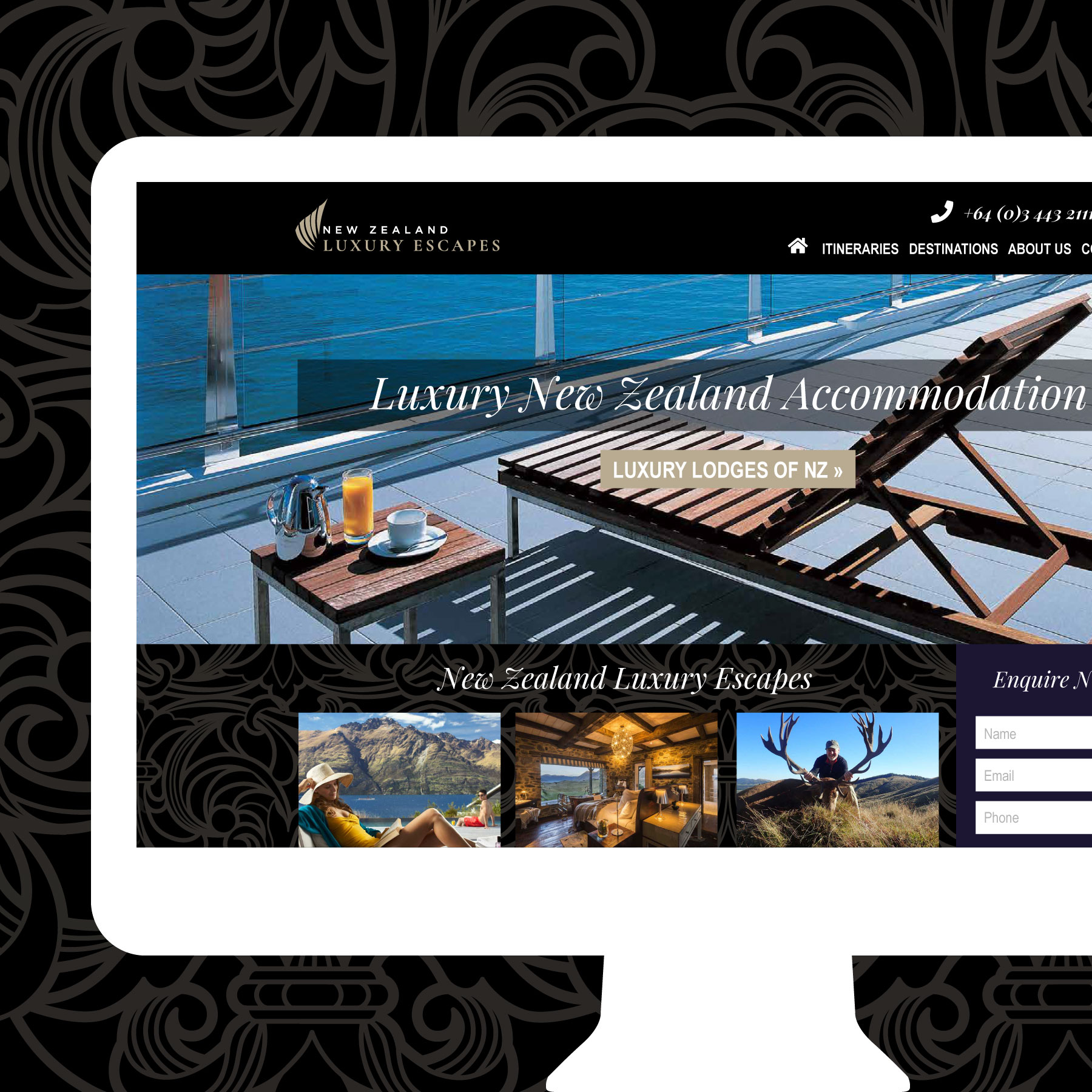 New Zealand Luxury Escapes Web Design Auckland